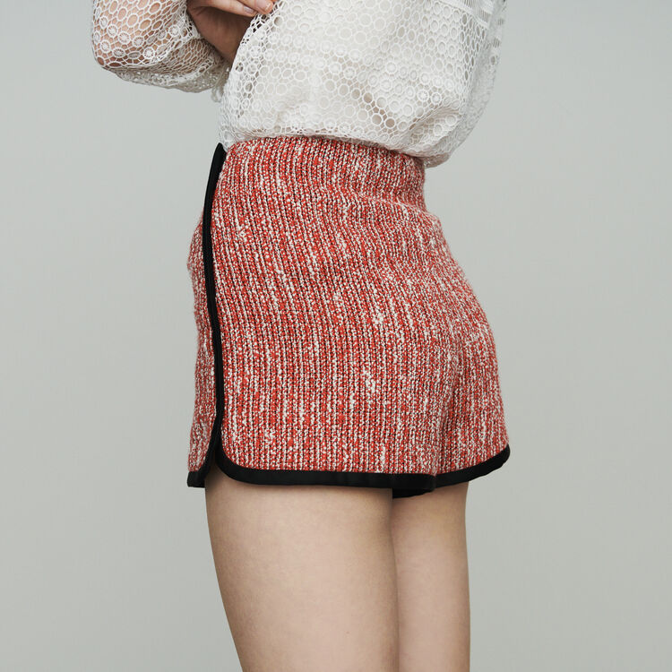 Tweed-style shorts : Skirts & Shorts color Red