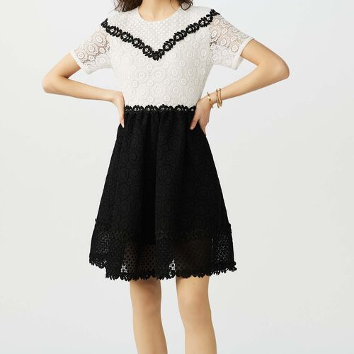 Skater dress in bicolored lace : staff private sale color Two-Tone