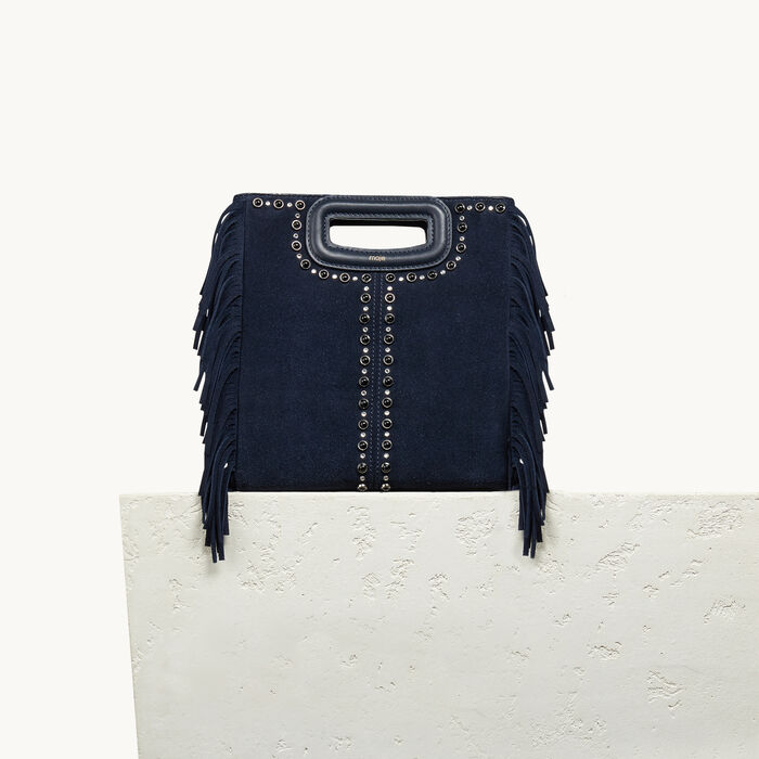 Suede bag with studs - 20% off - MAJE