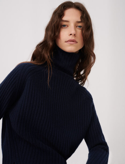 High neck cashmere sweater : All the collection color Gloss/Varnish White