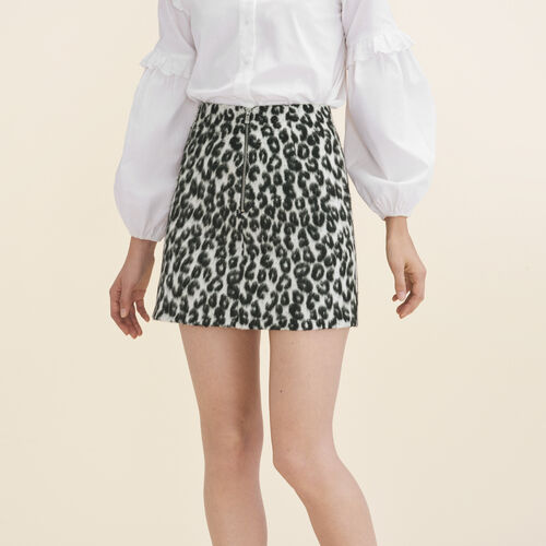 Leopard-print A-line skirt : See all color Print