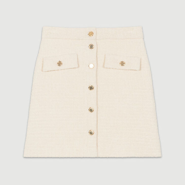 Skirt in tweed : Skirts & Shorts color Ecru