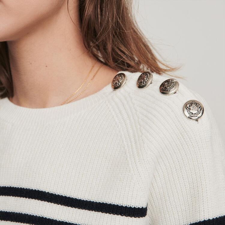 Sailor sweater : Knitwear color Ecru