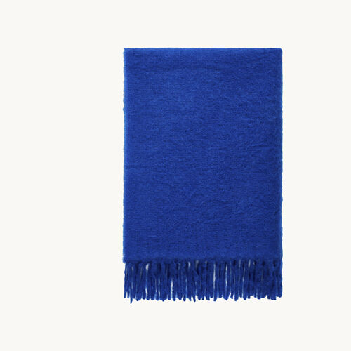 Thick wool scarf : Accessories color Blue