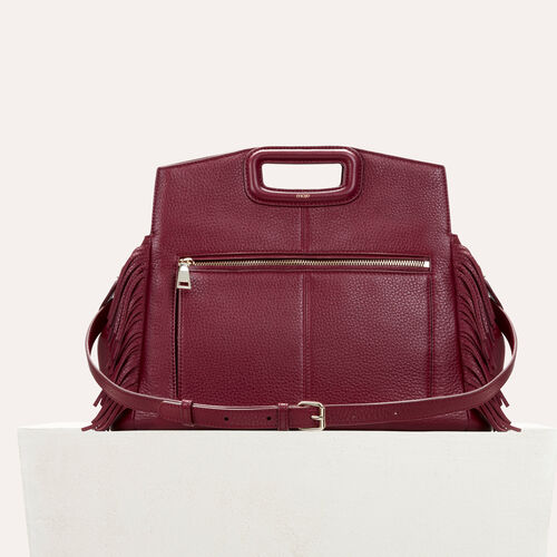 Leather shoulder bag  : M bags color Burgundy
