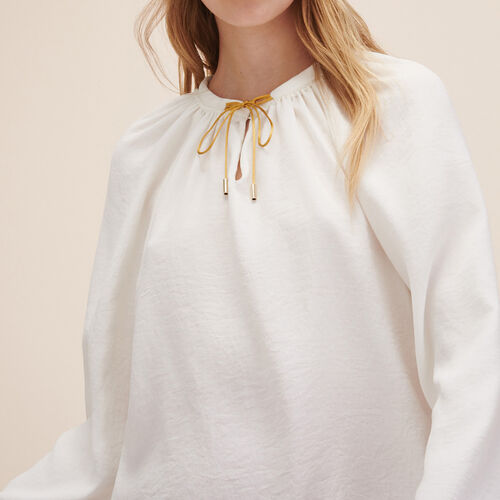 Floaty top with tie - Tops - MAJE