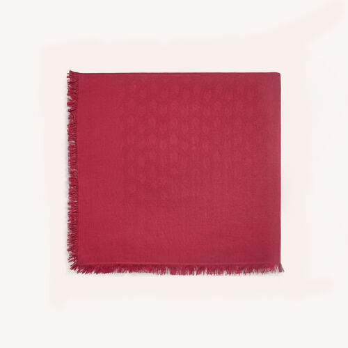 Cotton blend shawl : Shawls & Ponchos color Raspberry