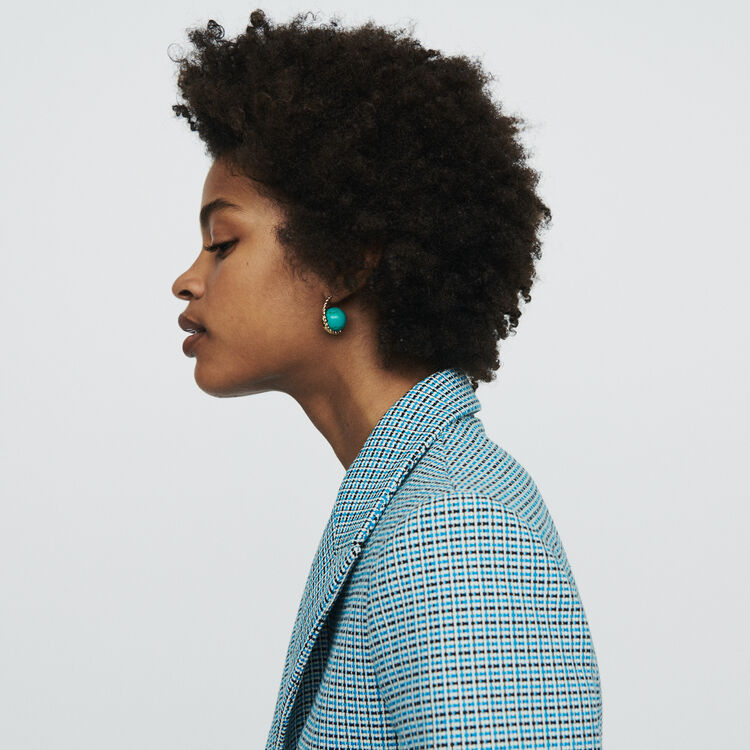 Suit tweed-style jacket : Blazers color Blue