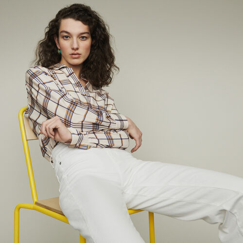 Plaid loose shirt : Shirts color CARREAUX
