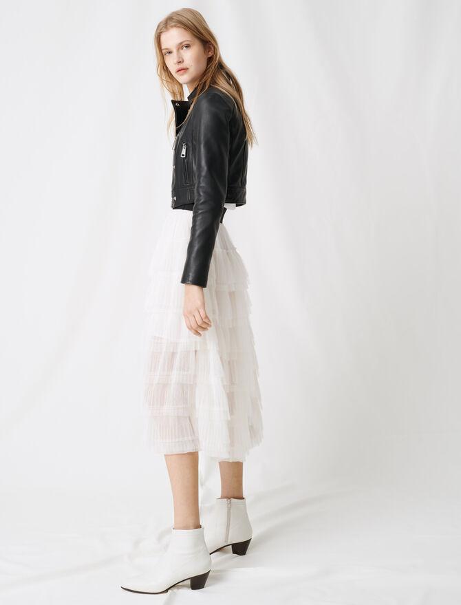White tulle midi skirt - Skirts & Shorts - MAJE