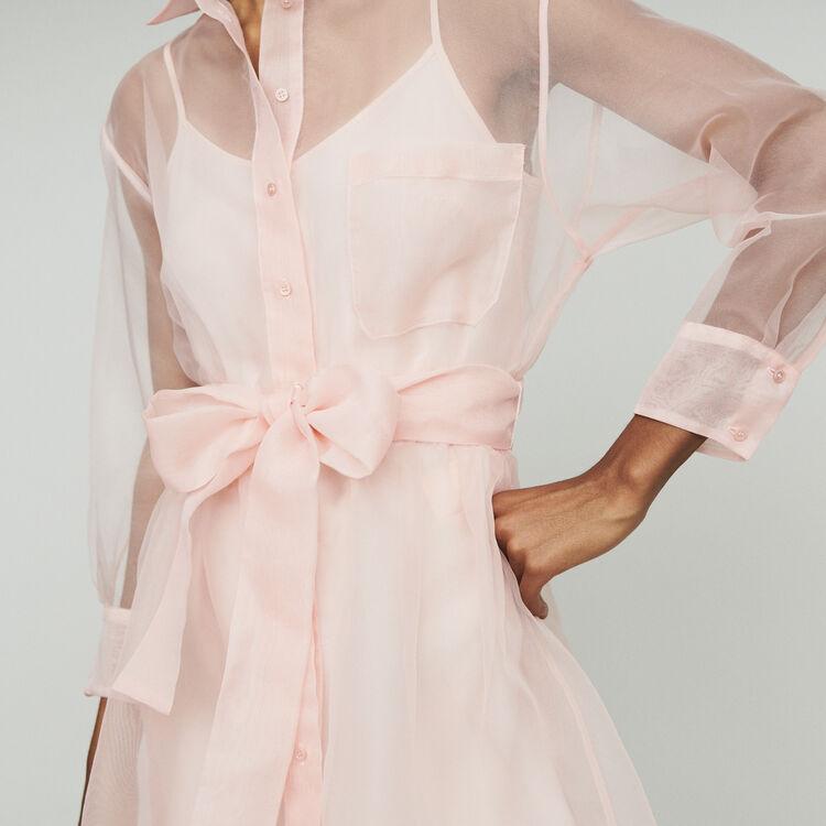 Organza shirt dress : Dresses color Pale Pink