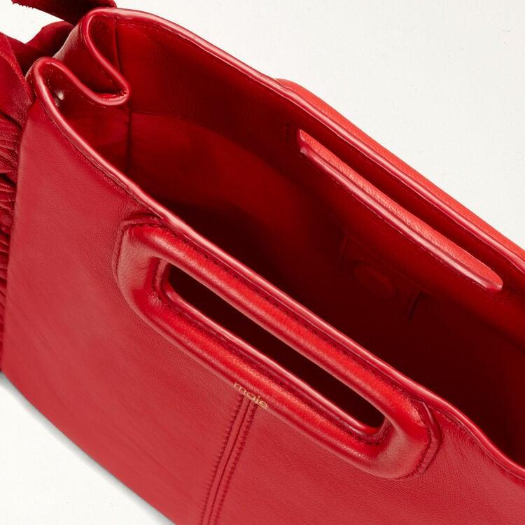 Frilled M bag : M bag color Red