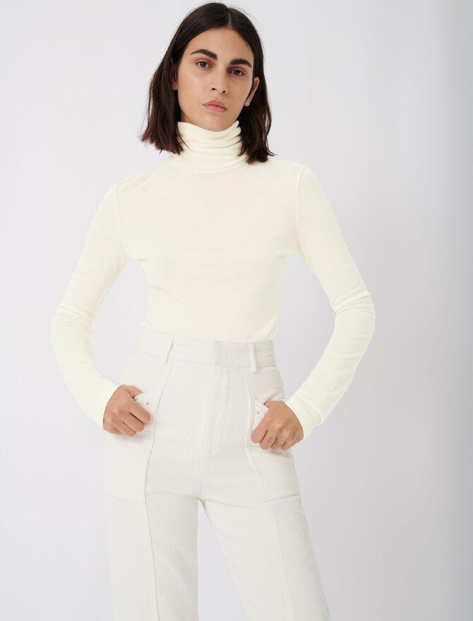 Tee shirt style under turtleneck sweater - T-Shirts - MAJE