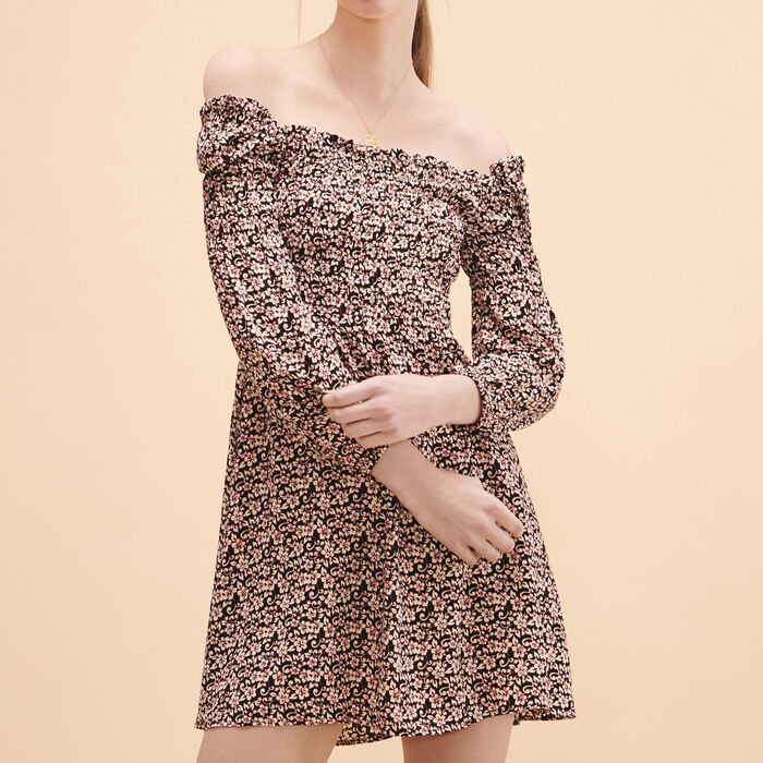 Short dress with floral print - Dresses - MAJE