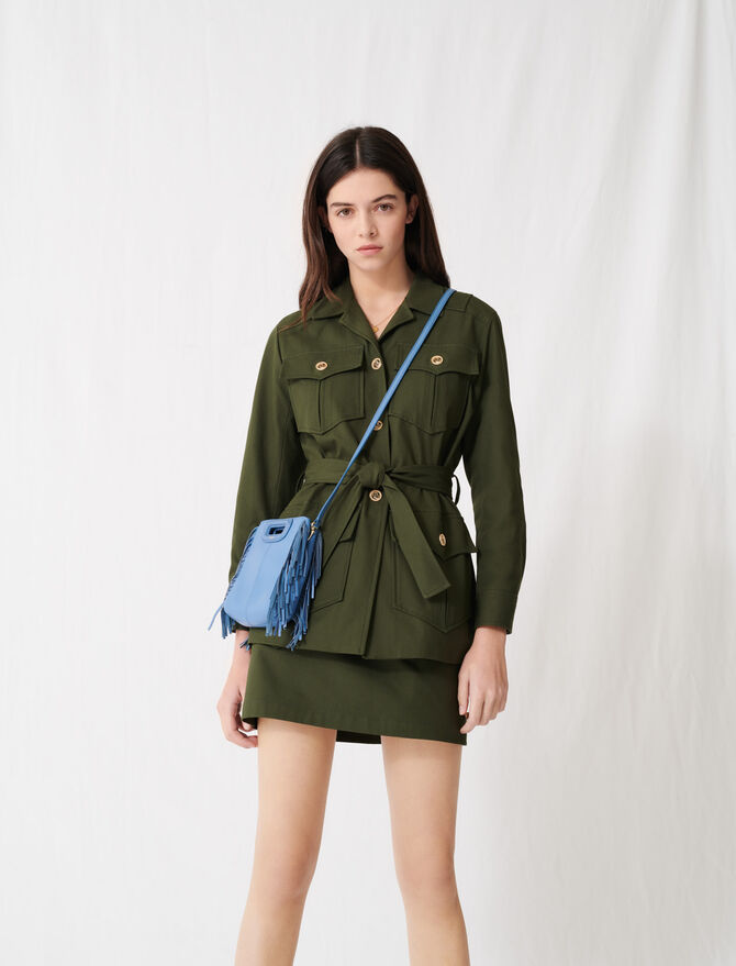 Belted safari-style coat - Coats & Jackets - MAJE