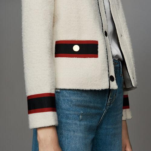 Cropped tweed jacket : Ready to wear color Ecru