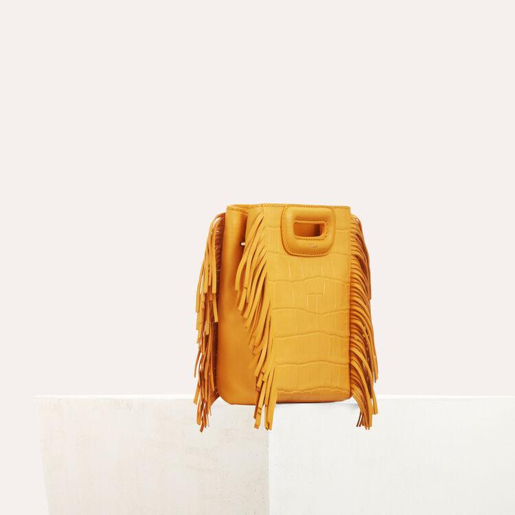 Mini M bag with crocodile fringe : M Mini color Pink