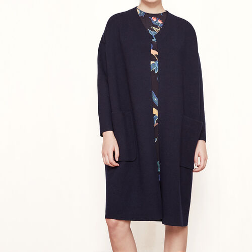 Locknit oversized cardigan : Sweaters & Cardigans color Blue