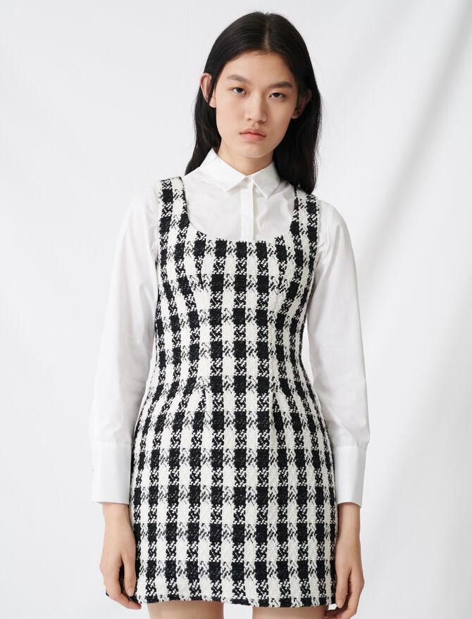 Tweed-style sleeveless dress - Dresses - MAJE