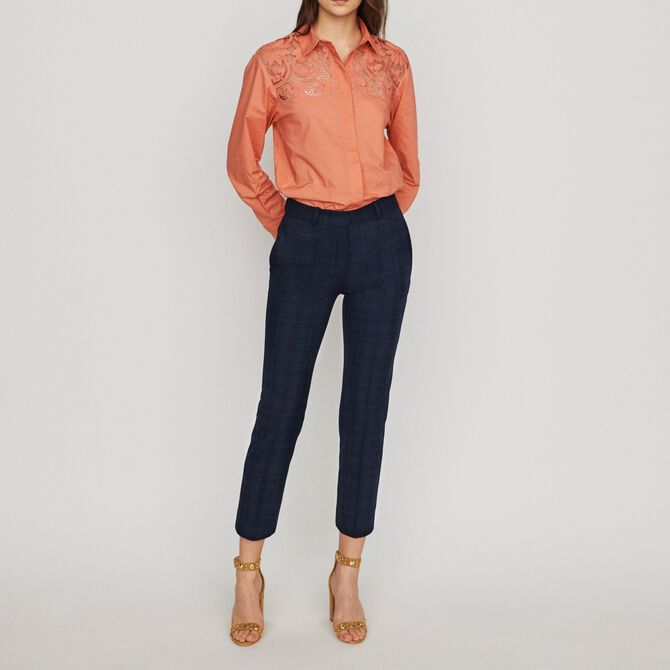 7/8 plaid trousers - See all - MAJE