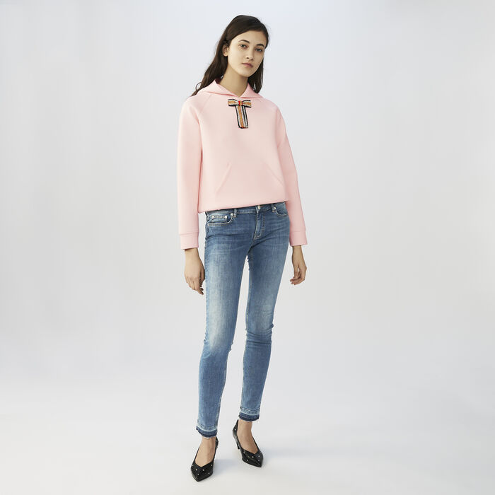 Faded skinny jeans : Jeans color Denim