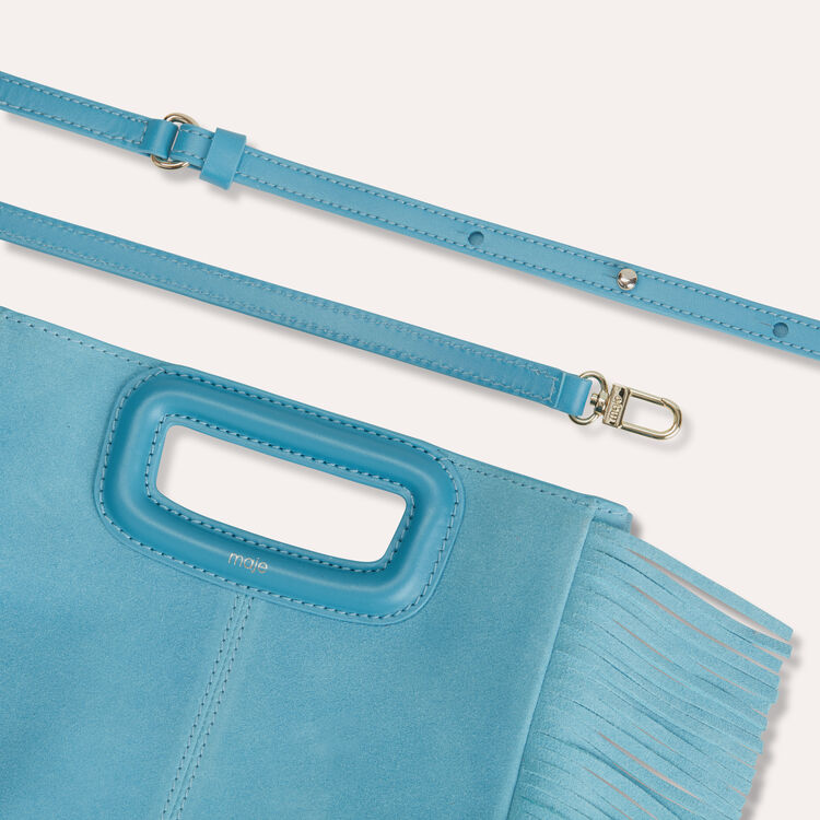 M bag in suede : null color Blue