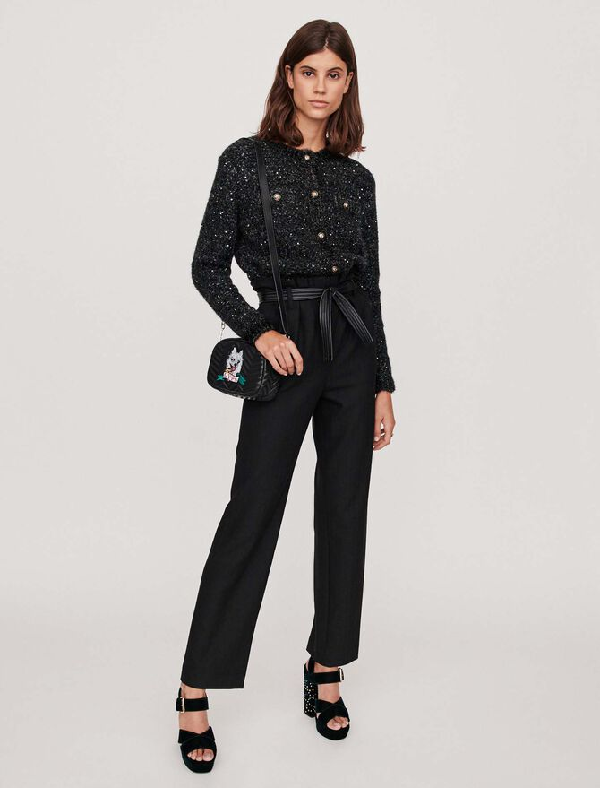Belted wide-leg pants - More discounts - MAJE