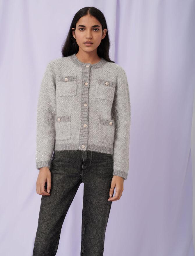 Lurex cardigan - Knitwear - MAJE