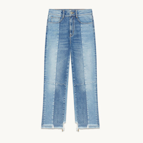 Straight-cut faded denim jeans - null - MAJE