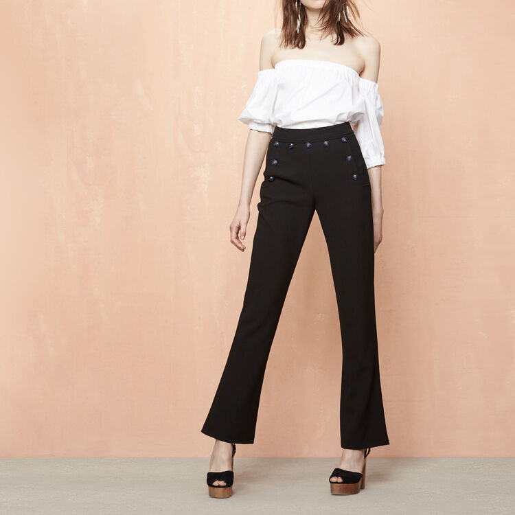 Crêpe sailor-style trousers - See all - MAJE
