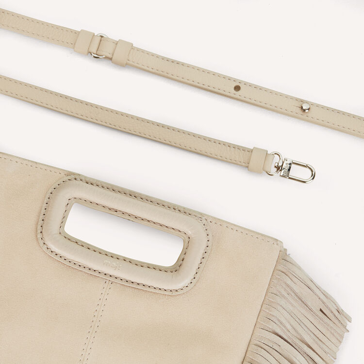 M bag in suede : New Collection color Beige