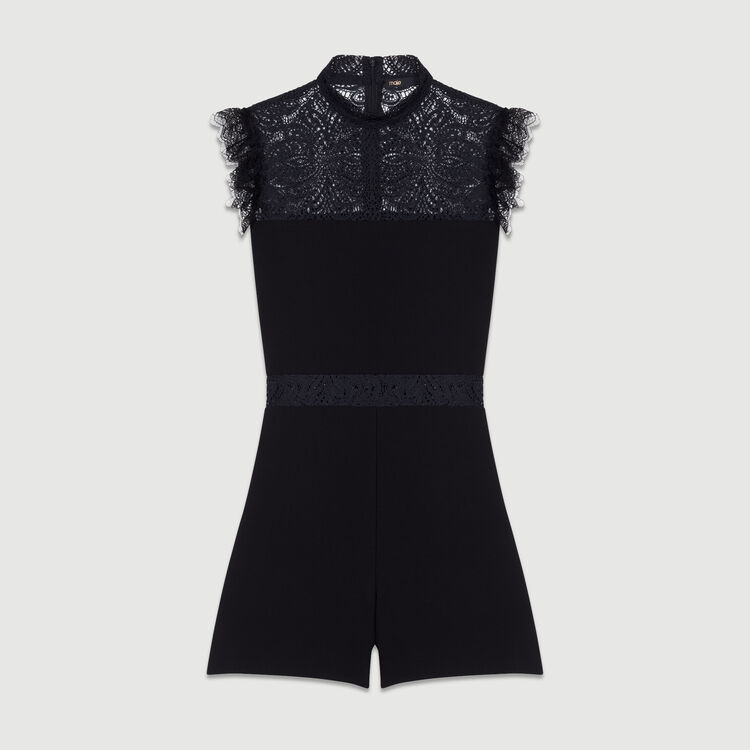 Romper with lace : Jumpsuits color Black 210