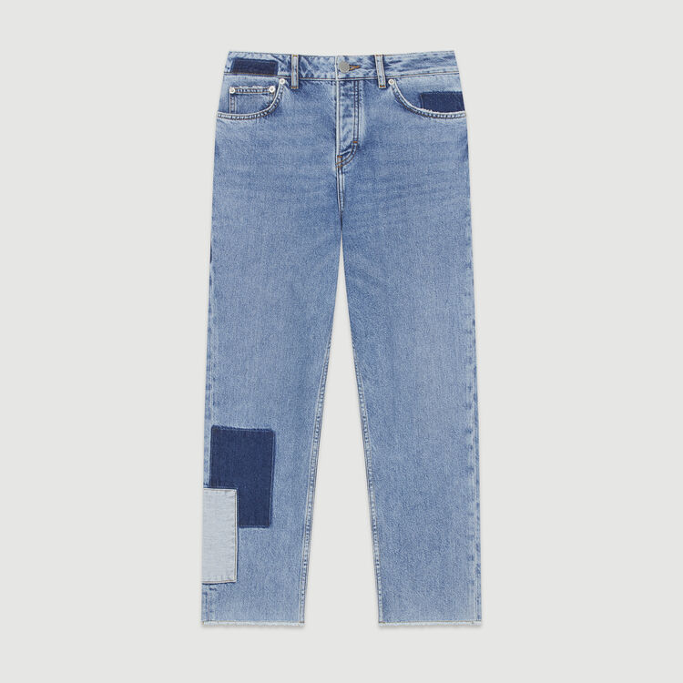 Straight-leg jeans with pieces : Trousers & Jeans color Blue