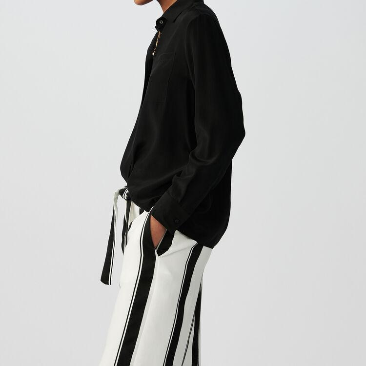Silk blouse : Shirts color Black 210