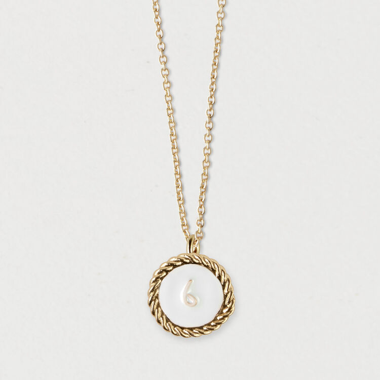 Number 6 medallion : Jewelry color GOLD