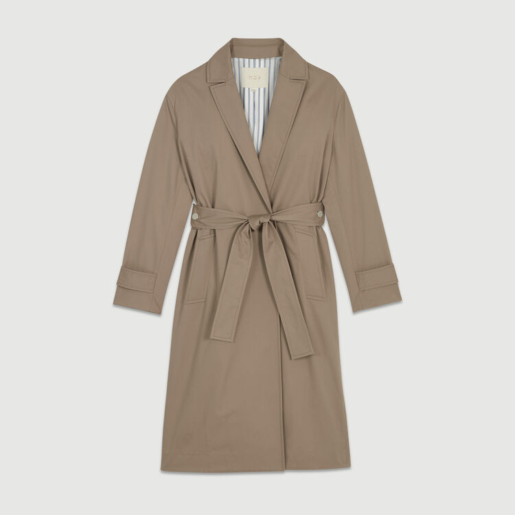 Cotton canvas trench : Coats color SAND BEIGE