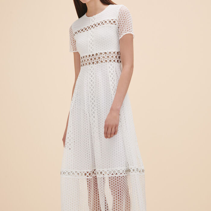 Long embroidered dress - Dress Code - MAJE