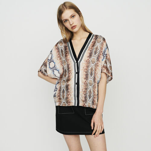 Shirt with python print : Tops & Shirts color Printed