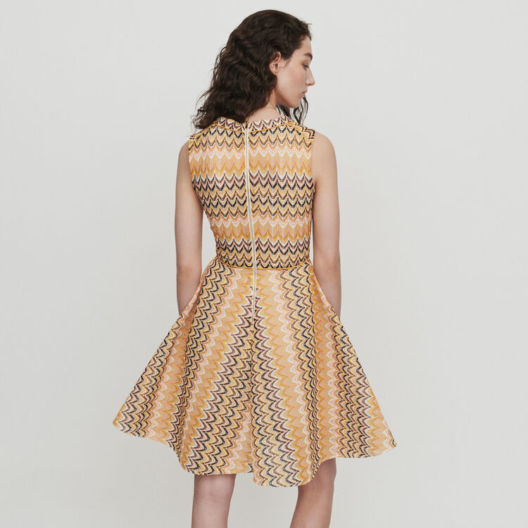 Skater dress in striped knit : Dresses color Multico