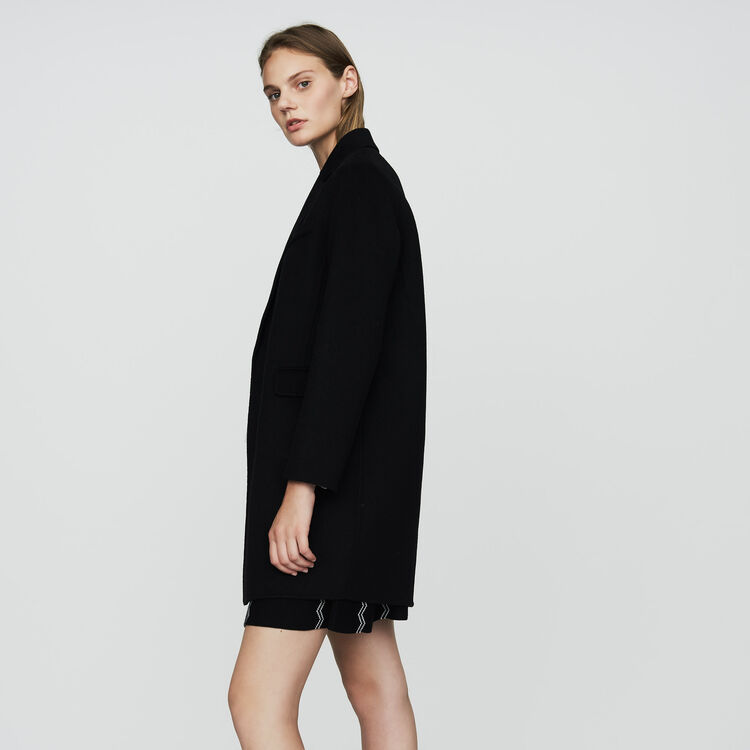 Double-faced wool coat : New Collection color Black 210