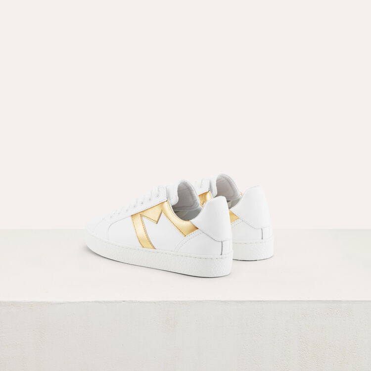 Sneakers with a M insert : Shoes color Gold