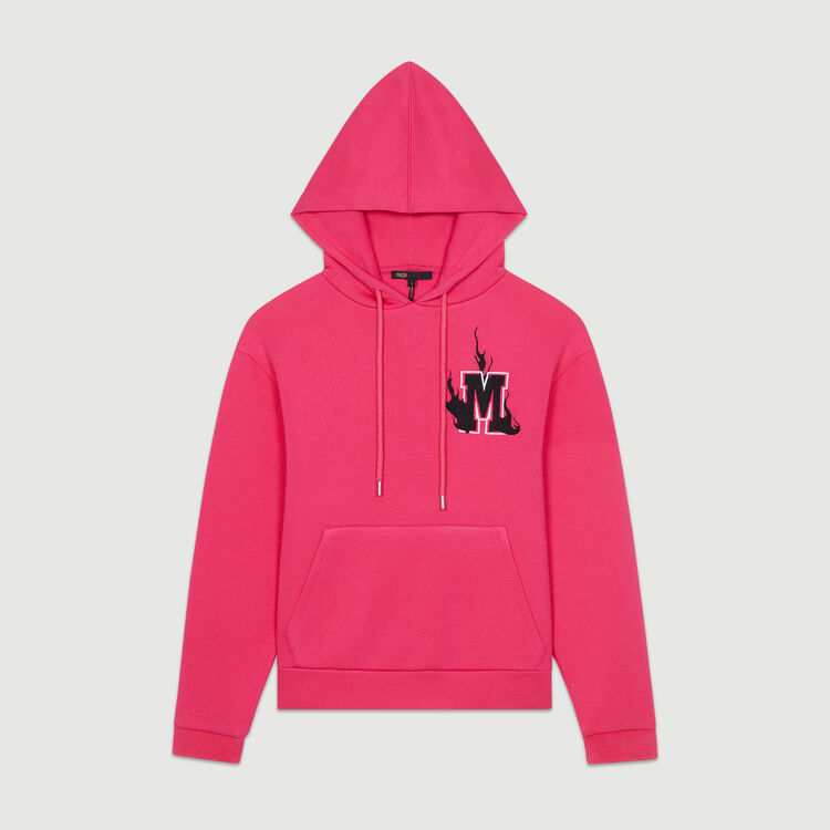 Oversize hooded sweatshirt : Sweatshirts color Fuschia