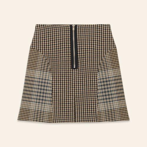 Checked skirt : Skirts & Shorts color Jacquard