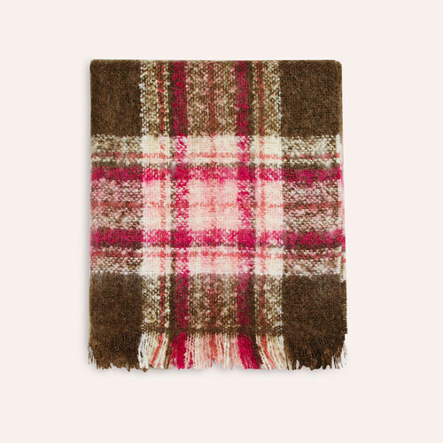 Thick checked scarf : Accessoires color Ecru
