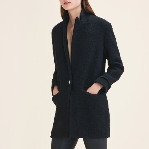 Mid-length tweed jacket : Jackets & Blazers color Black 210