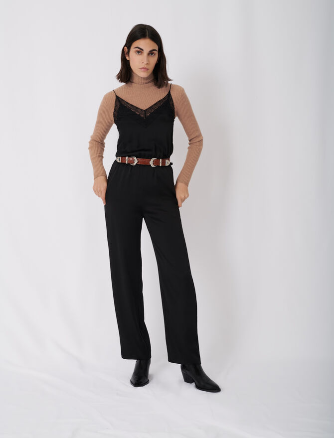 Satin jumpsuit - Jumpshort & Jumpsuits - MAJE