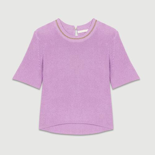 3/4 sleeve jumper : Knitwear color LILAS