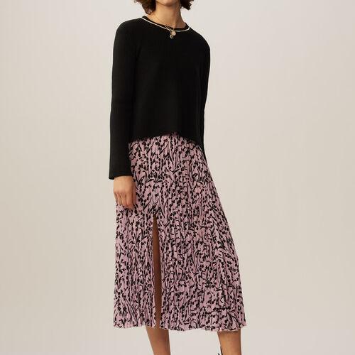 Fine-knit cotton blend sweater : Sweaters & Cardigans color Black 210