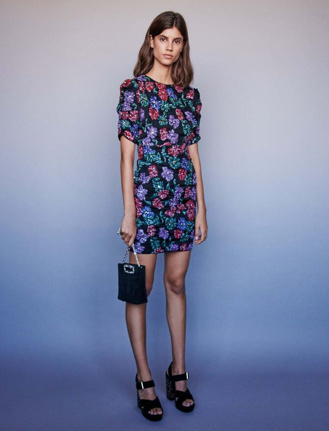 Sequin embroidered dress - -40% - MAJE