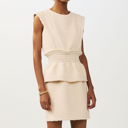 Sleeveless dress : Dresses color Ecru